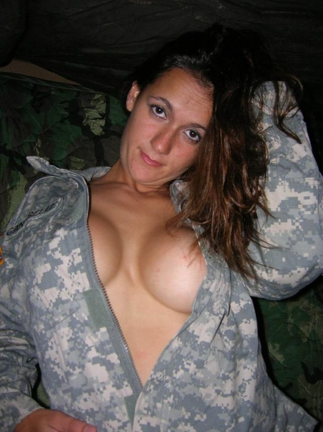 A girl in a military uniform - 01