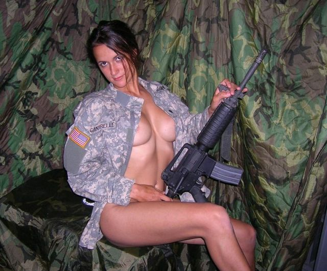 A girl in a military uniform - 05