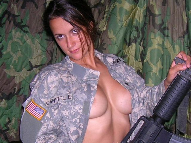 A girl in a military uniform - 06