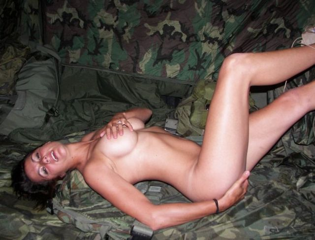 A girl in a military uniform - 11