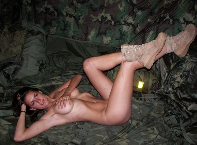 A girl in a military uniform - 12