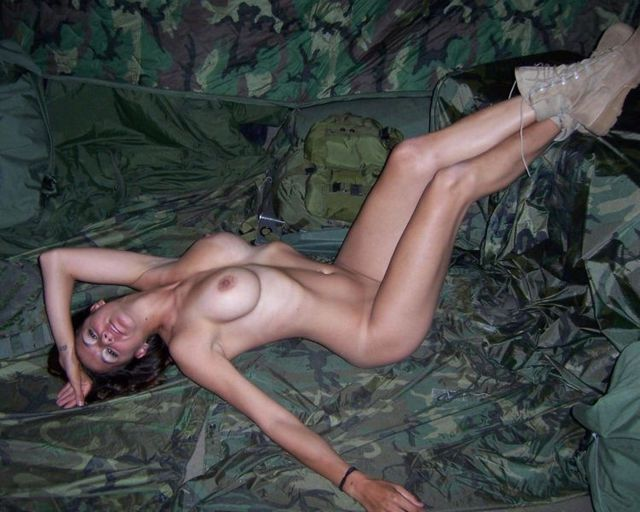 A girl in a military uniform - 13