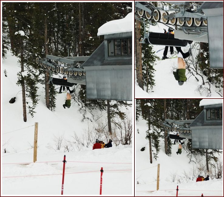 A mishap on a chairlift - 20090108