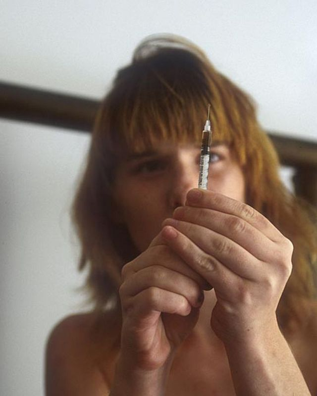 Drug addicts under the influence of narcotics - 12