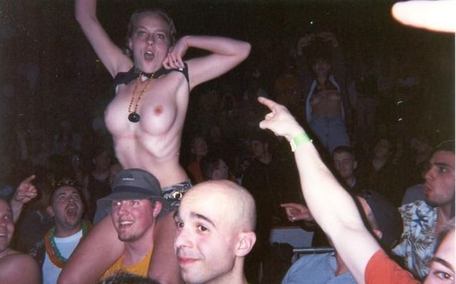 Topless girls on the concerts and festivals - 06