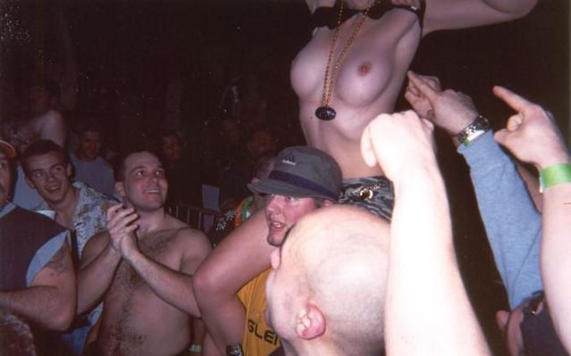 Topless girls on the concerts and festivals - 07