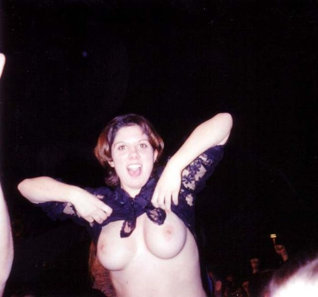 Topless girls on the concerts and festivals - 101