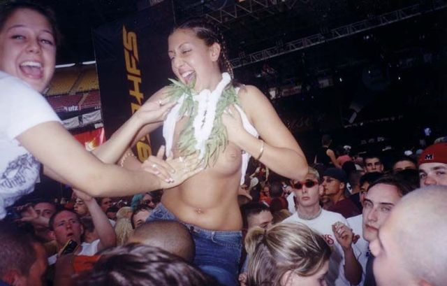 Topless girls on the concerts and festivals - 102