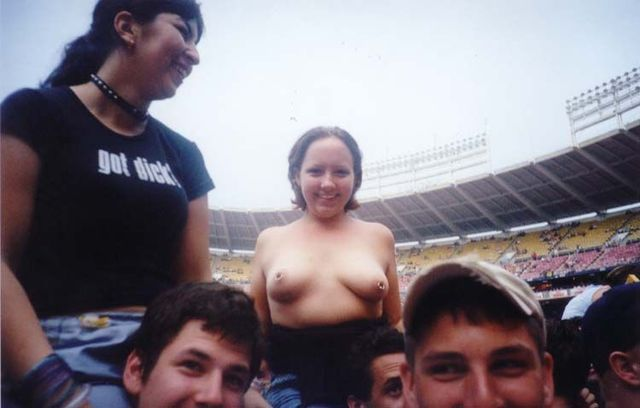 Topless girls on the concerts and festivals - 105