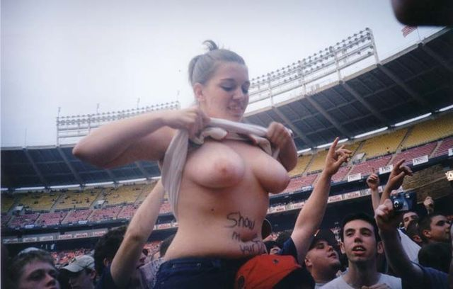 Topless girls on the concerts and festivals - 13