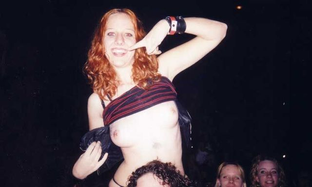 Topless girls on the concerts and festivals - 26