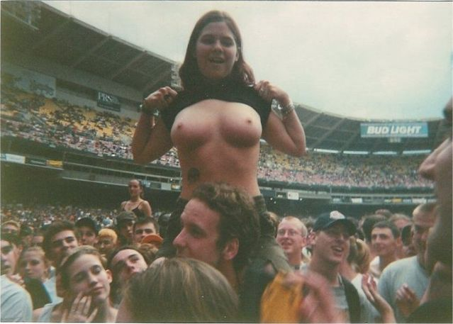 Topless girls on the concerts and festivals - 66