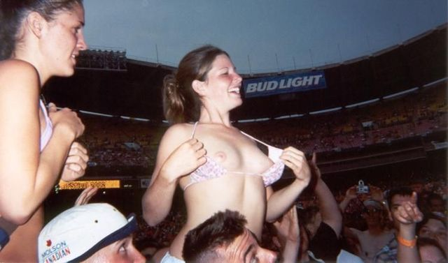 Topless girls on the concerts and festivals - 69