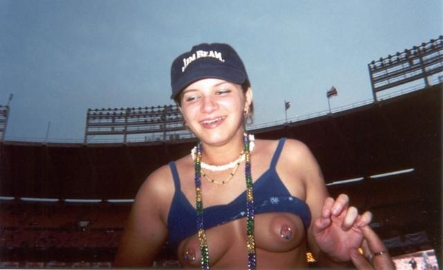 Topless girls on the concerts and festivals - 71