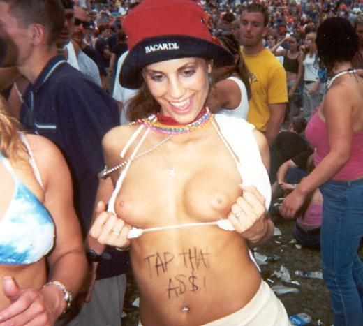 Topless girls on the concerts and festivals - 80