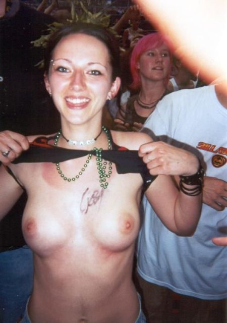 Topless girls on the concerts and festivals - 81