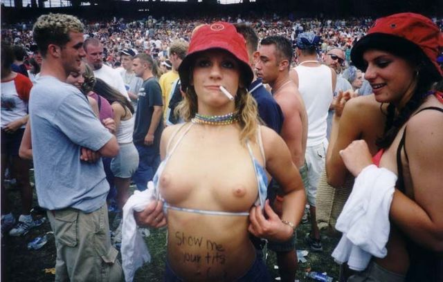 Topless girls on the concerts and festivals - 87