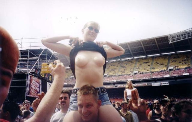Topless girls on the concerts and festivals - 91