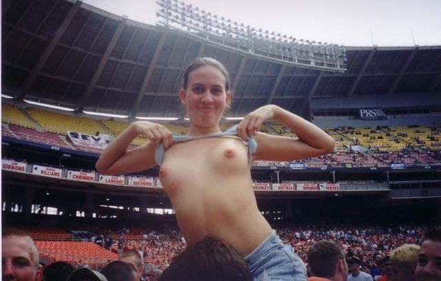 Topless girls on the concerts and festivals - 93