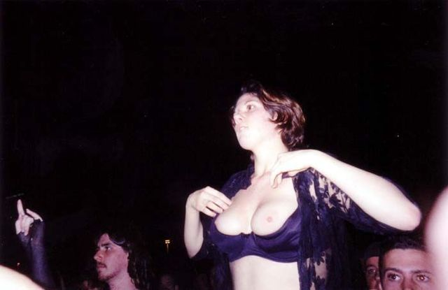Topless girls on the concerts and festivals - 98