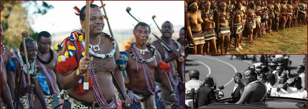 The King is seeking for a wife. 70,000 virgin maidens to dance for Swaziland's King Mswati III - 20090520