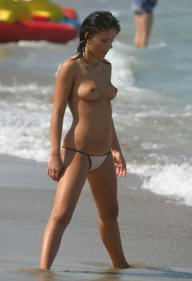 Topless beauties on the beach - 12