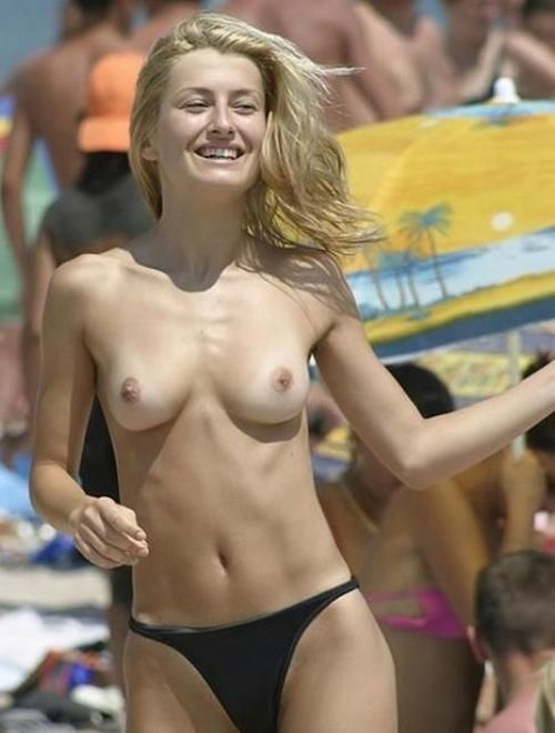 Topless beauties on the beach - 15