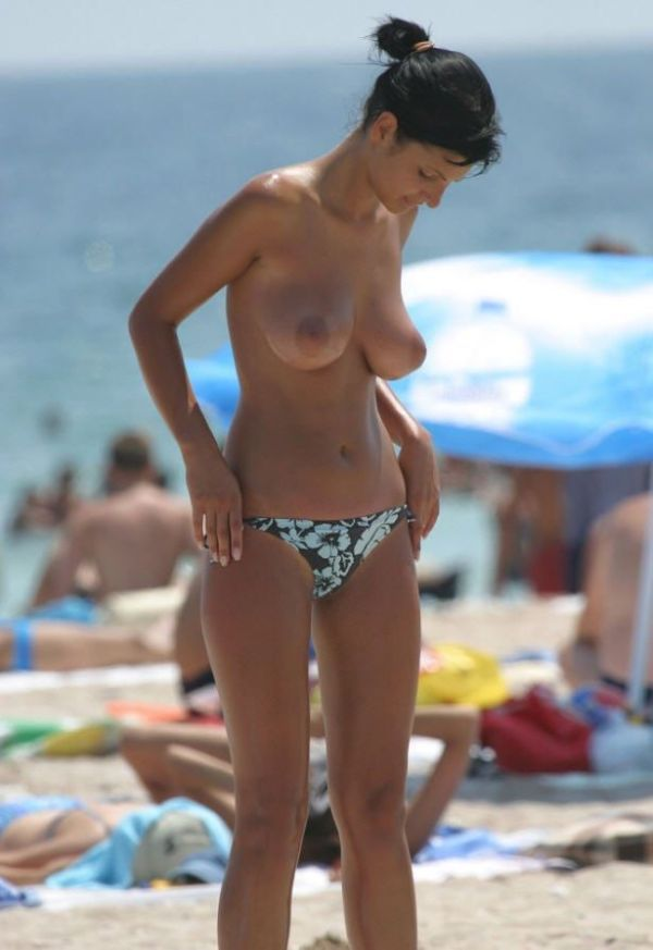 Topless beauties on the beach - 19