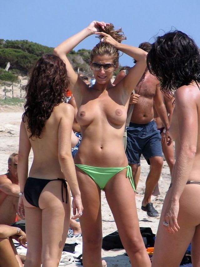 Topless beauties on the beach - 22