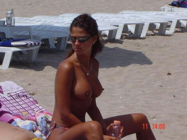 Topless beauties on the beach - 26