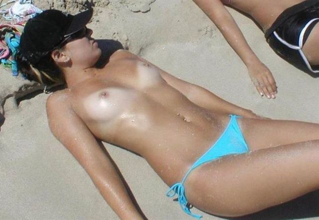 Topless beauties on the beach - 36