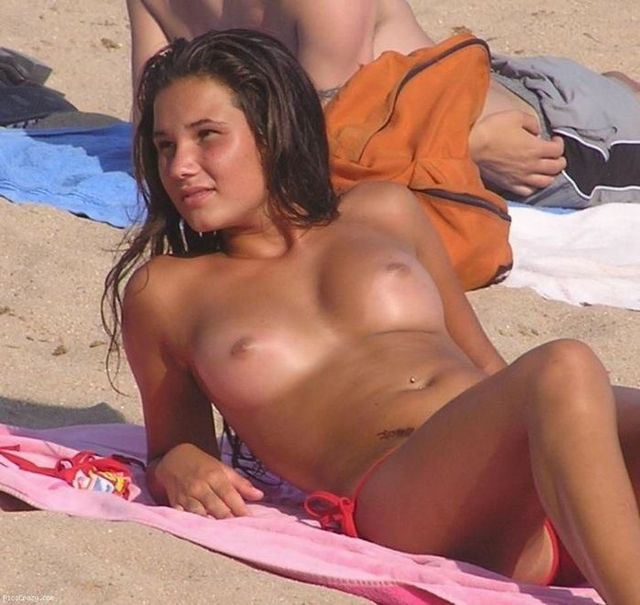 Topless beauties on the beach - 40