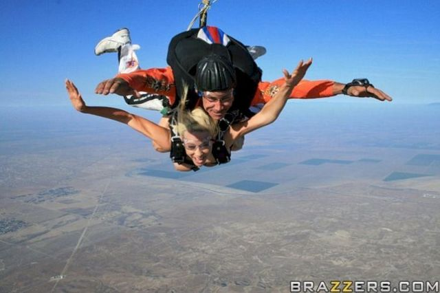 Kagney and Krissy in naked skydiving - 06