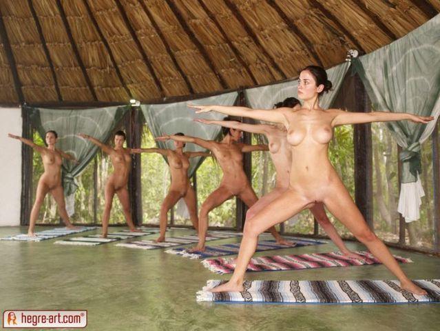 Nude yoga class - 06
