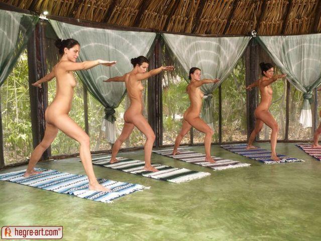 Nude yoga class - 08