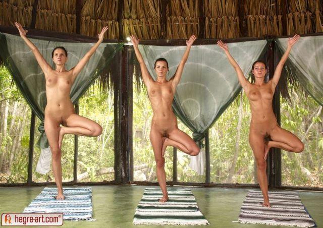 Nude yoga class - 14