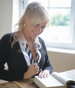 Sexy teacher. It is a pity that she didn't teach me ...
