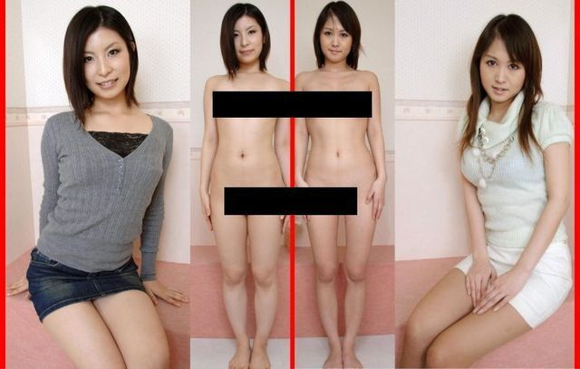 Asian girls in clothes and without - 00