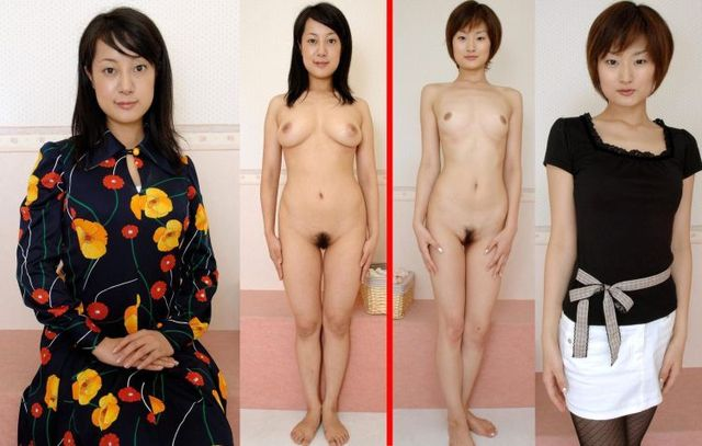 Asian girls in clothes and without (44 photos)
