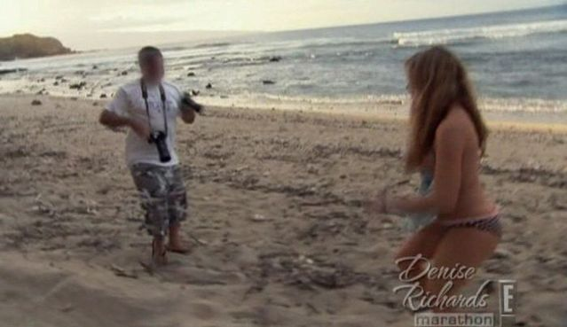 Denise Richards topless on the beach - 00
