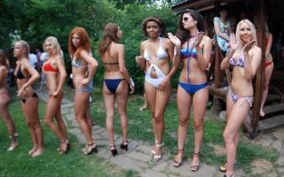 The contest «Miss Wet T-shirt» was held recently in Kiev
