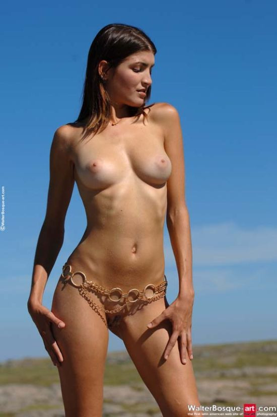 Pretty Consuelo with golden chains - 01