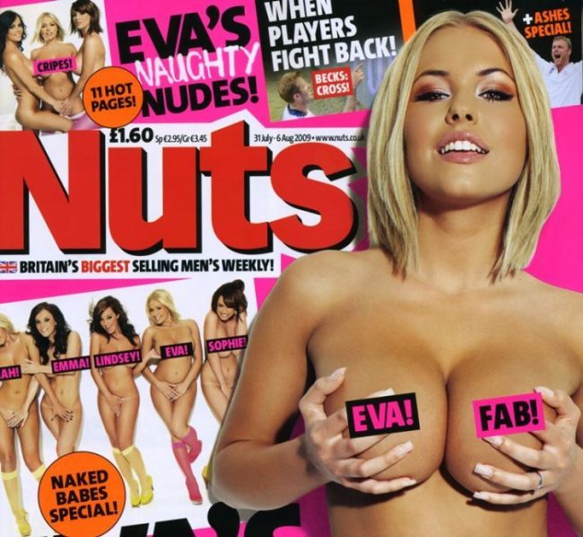 Eva Wyrwal and her girlfriends in Nuts magazine - 00