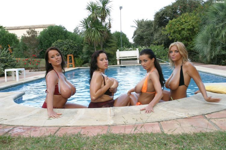 Big breasted beauties in the pool. I'd swim with them with great pleasure - 04