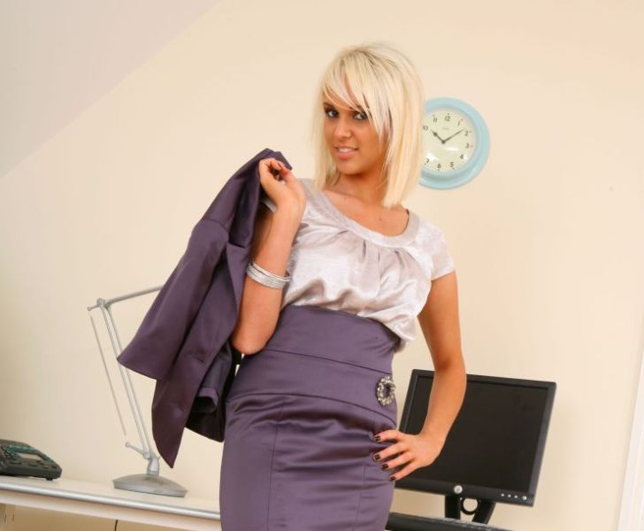 Cara Brett in the role of a hot secretary - 00