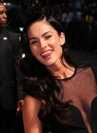 Charming Megan Fox. She is always so different
