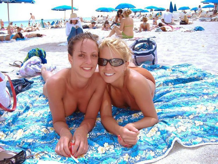 Girls like to be photographed topless on the beach - 33