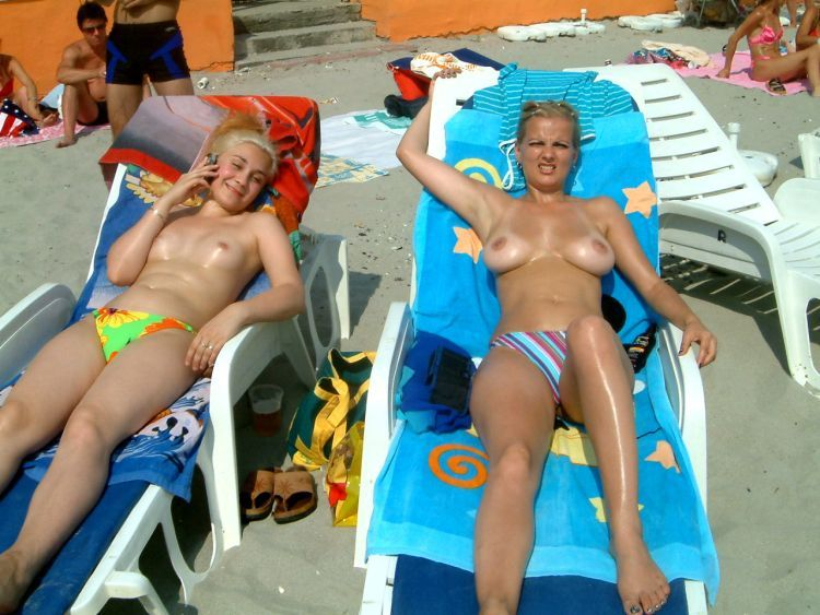 Girls like to be photographed topless on the beach - 35