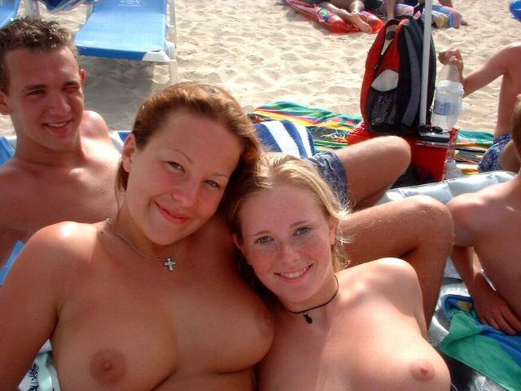 Girls like to be photographed topless on the beach - 49