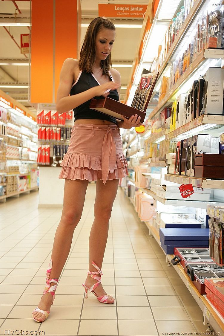 Lenka arranged a small striptease at the supermarket - 01